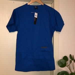 Royal Blue fitted scrub top